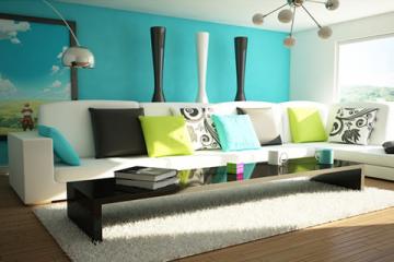 Ý tưởng trang trí tranh treo tường phòng khách hiện đại